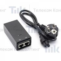 Изображение Блок питания Ubiquiti Gigabit POE Adapter 48V 24W (0.5A)